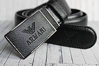 Мужской ремень Armani пряжка самозажимная зажим
