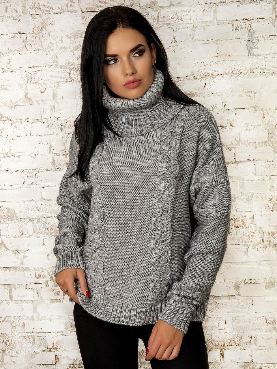 Женский свитер оверсайз Паола-5 из шерсти и акрила