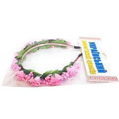 Цветочный обруч Розовые розы тонкий Руди ОУ010у tsi53701, КОД: 293681