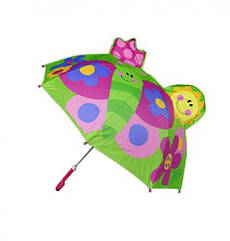 Зонтик детский Бабочка Kronos Toys C23353 Салатовый tsi54699, КОД: 293682