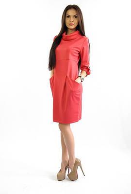 Свободное женское платье с карманами