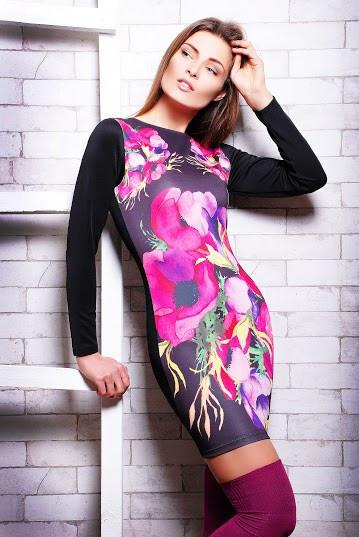 Коктейльна сукня з довгим рукавом