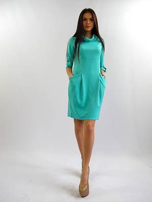 Свободное женское платье офисного стиля