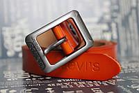 Рыжий женский ремень  Levi's из натуральной кожи
