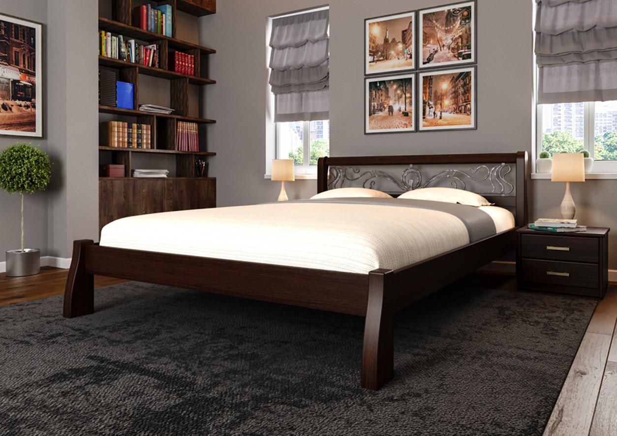 Ліжко Ретро з ковкою ТМ ЧДК