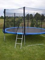 Батут Фанфіт діаметром 312см (10ft) спортивний для дітей ( Фанфит ) з драбинкою і зовнішньою захисною сіткою
