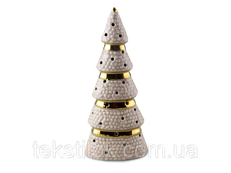 Ялинка золота свічник 26 см Новорічний декор