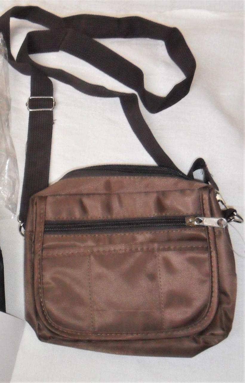 092ee4d4ef20 Новая мужская сумка на плечо пояс бананка барсетка коричневая, цена ...