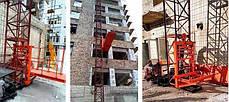 Висота підйому Н-59 метрів. Щоглові підйомники для подачі будматеріалів, Будівельний підйомник з висувною плт., фото 3