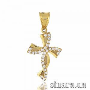 Золотой крестик 21029