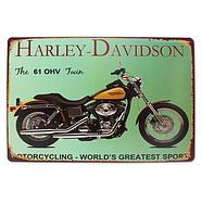 Ретро табличка металлический постер HARLEY DAVIDSON 61 OHV