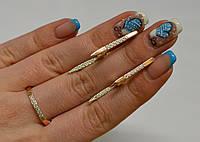 Серебряный гарнитур с золотом, фото 1