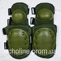 Комплект защитных наколенников и налокотников универсальный ОЛИВА