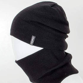 Комплект шапка и снуд утеплённая черный