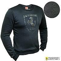 Мужской свитер кофта свитшот Puma Ferrari Black батник Пума Феррари