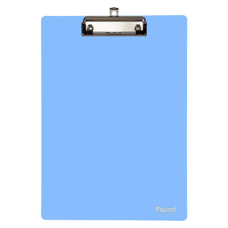 Доска с клипом А4 пластик Axent 2515 голубой