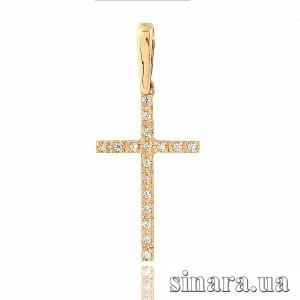 Золотой крестик 22821