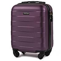 Микро пластиковый чемодан Wings 401 на 4 колесах фиолетовый