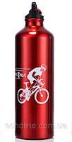 Фляга алюминиевая питьевая Sport Pot 0,75 л красная