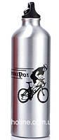 Фляга алюминиевая питьевая Sport Pot 0,75 л серый металик