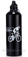 Фляга алюминиевая питьевая Sport Pot 0,75 л черная