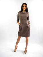 Полубатальное женское платье