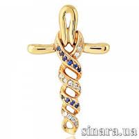 Золотой крестик Анкх - Женский золотой крестик, фото 5