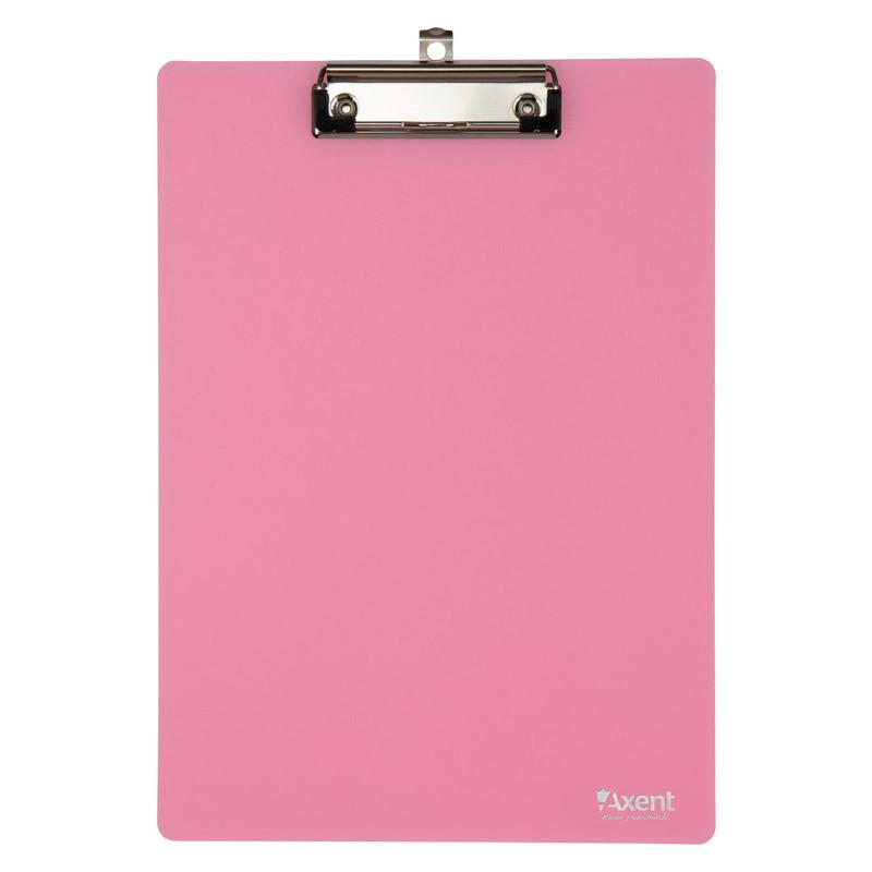 Доска с клипом А4 пластик Axent 2515 розовый