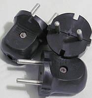 Вилка 6A колокольчик черная
