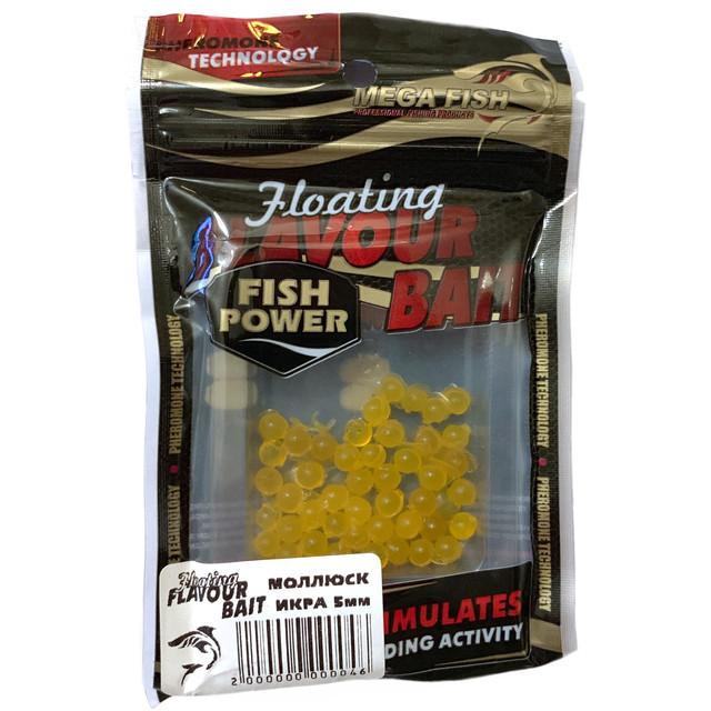 Приманки-наживки для рыбы MEGA FISH ИКРА 5мм силиконовые, ароматизированные моллюск