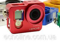 Алюминиевый корпус рамка для GoPro Hero 4 красный, фото 1