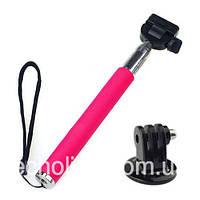 Монопод телескопический DR.PRO 101 для GoPro розовый