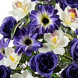 Букет розы с орхидеей и крокусами, 64см, фото 2