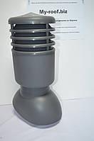 Вентиляционные выходы KRONO-PLAST KPIO 1-3, Ø125, УТЕПЛЕННЫЙ RAL 7024 графитовый для битумной черепицы