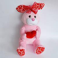 Зайчик Кнопа. Мягкая игрушка с сердечком