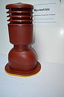 Вентиляционные выходы KRONO-PLAST KPIO 1-4, Ø125, УТЕПЛЕННЫЙ RAL 3009 красный для битумной черепицы