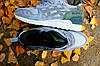 Чоловічі зимові кросівки ASICS сірі з зеленим (репліка ААА+)