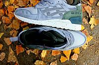 Чоловічі зимові кросівки ASICS сірі з зеленим (репліка ААА+), фото 1