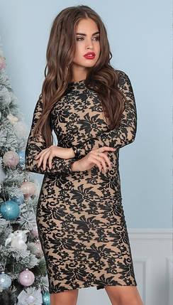 Т3016 Роскошное облегающее платье (размеры 42-46), фото 2