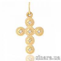Декоративный золотой крест 6753