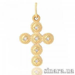 Золотой крестик 6753