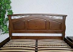 """Кровать двуспальная из массива дерева для спальни """"Марго"""" (цвет на выбор) от производителя, фото 3"""