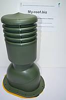 Вентиляционные выходы KRONO-PLAST KPIO 1-5, Ø125, УТЕПЛЕННЫЙ RAL 6020 Зеленый для битумной черепицы