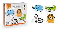 Детская шнуровка Viga Toys Дикие животные (51326)