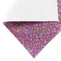 Кожзам с крупными блестками РОЗОВО-СЕРЕБРЯНЫЙ микс, 20х30 см, Китай, фото 1