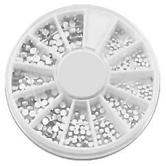Камені Білі Різного Розміру якість LUX, у Каруселях, Декор Нігтів, Дизайн Нігтів