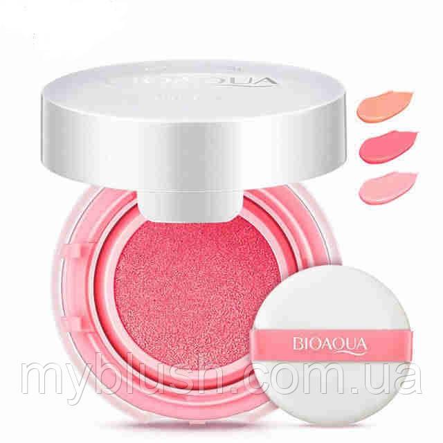 Румяна кушон bioaqua Smooth muscle 12 g №1 (Light pink)