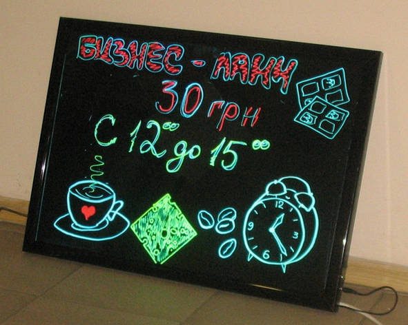 Неоновая панель LED WRITING BOARD 60*80, фото 2