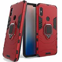Чехол Ring Armor для Xiaomi Redmi Note 6 Pro Красный