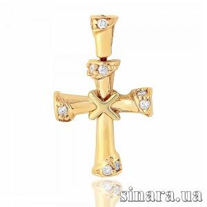 Золотой крестик 6762